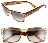 Tom Ford Women's 'Mason' 58Mm Sunglasses - Dark Brown/ Gradient Smoke