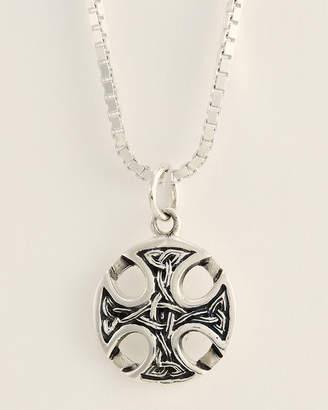 Jean Claude Silver-Tone Tibetan Cross Knot Pendant Necklace