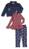 Nannette Little Girl's Three-Piece Jacket, Top and Pants Set