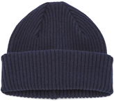 Paul Smith Accessories Cashmere Beanie Hat Navy