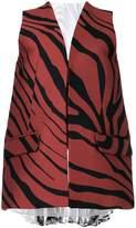 Roberto Cavalli zebra-print gilet