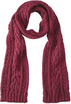 Joe Fresh Men's Cable Knit Scarf, Dark Red Mix (Size O/S)