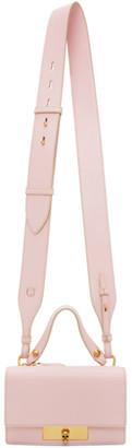 Alexander McQueen Pink Small Skull Lock Bag