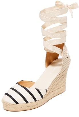 Soludos Women's Striped Gladiator Tall Wedge Espadrilles