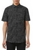Topman Men's Slim Fit Short Sleeve Print Shirt