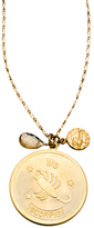 A.V. Max Gold and Crystal Zodiac Pendant Necklace