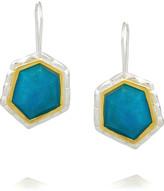 Kara Ross Sterling silver turquoise drop earrings