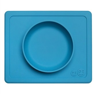 Ezpz Mini Bowl Placemat and Bowl Blue