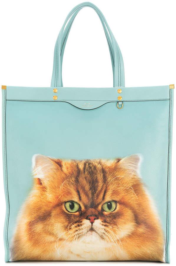 Anya Hindmarch kitsch cat tote