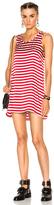 R 13 Mini Tank Dress in Red,Stripes,White.