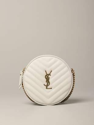 Saint Laurent Jade Disco Bag In Matelasseacute; Leather
