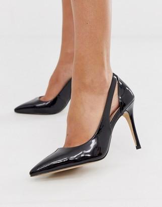 Carvela side cut out court shoe in black