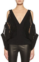 Tom Ford Laser-Cut Cold-Shoulder Top