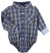 Andy & Evan Infant Boy's Plaid Flannel Bodysuit
