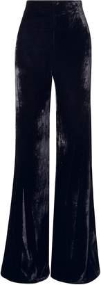 Silvia Tcherassi Giovanetti Velvet Wide-leg Pants