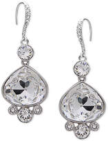 Nina Silver-Tone Swarovski Crystal Pear Drop Earrings
