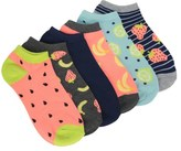 Famous Footwear Women's 6 Pack Fruits No Show Socks