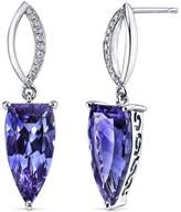 Ice 7 2/3 CT TW Simulated Alexandrite 14K White Gold Earrings with Diamond Accents