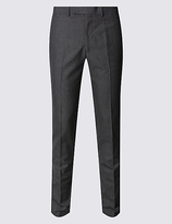 Limited Edition Grey Checked Modern Slim Fit Trousers