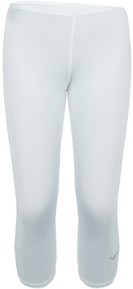 Armani Junior White Swarovski Logo Detail Leggings 5 Yrs