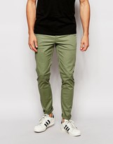Asos Skinny Chinos In Light Khaki