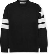 Givenchy - Slim-fit Appliquéd Cotton Sweater