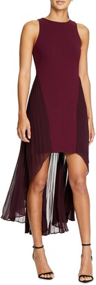 Halston Colorblock High/Low Dress