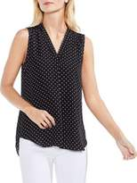 Vince Camuto Poetic Dots Sleeveless Blouse