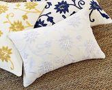 Popcorn Crewel Pillow In Ivory