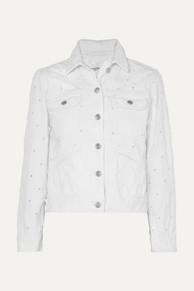 Etoile Isabel Marant Lofty Distressed Denim Jacket - White