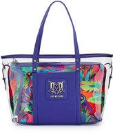 Love Moschino Jungle Clear Tote Bag, Fuchsia/Purple