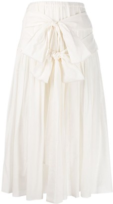 Sara Lanzi Tie-Fastening Maxi Skirt