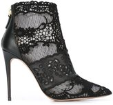 Valentino Garavani Valentino lace ankle boots - women - Leather/Polyester - 37