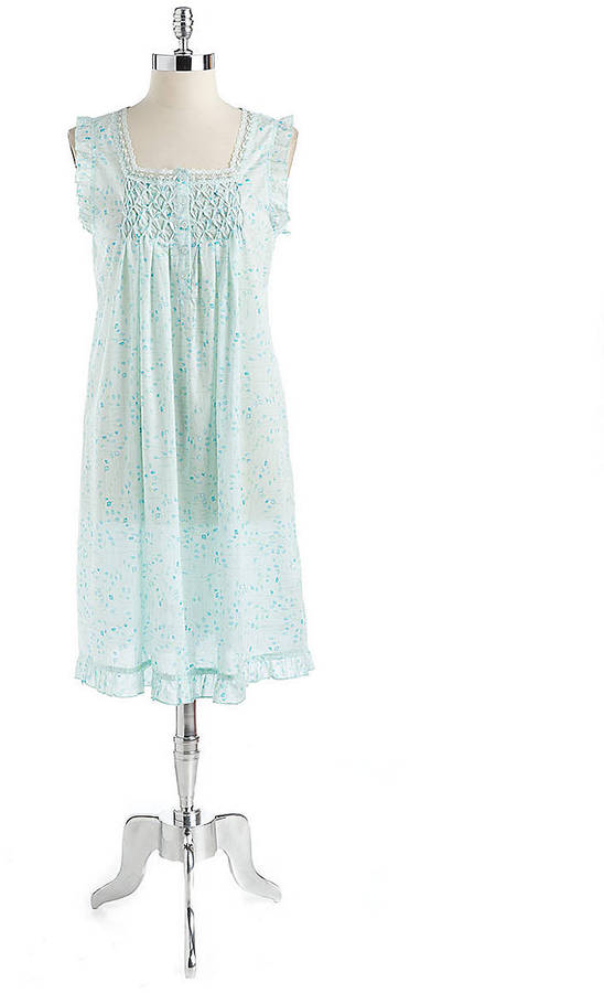 Kenneth Cole NEW YORK Cotton Floral Print Nightgown