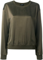 Theory round neck sweatshirt - women - Silk - 4