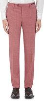 Pt01 Men's San Blas Slim-Fit Stretch Wool-Blend Trousers-Red