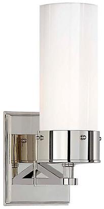 Thomas O'Brien For Visual Comfort Marais Bath Sconce - Nickel/White