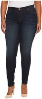 KUT from the Kloth Plus Size Diana Skinny Five-Pocket in Blinding/Euro Base Wash Women's Jeans