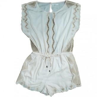 Tularosa Beige Cotton Jumpsuit for Women
