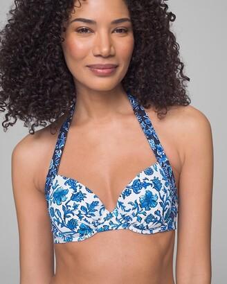 Soma Intimates Woodblock Blossoms Underwire Full Coverage Bikini Swim Top