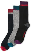 Ben Sherman 3-Pack Victor Color Block Assorted Crew Socks