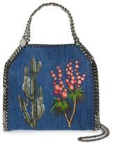 Stella McCartney Mini Falabella Embroidered Denim Tote - Blue