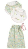 Infant Mini Boden 2-Pack Bibs & Drawstring Bag Set