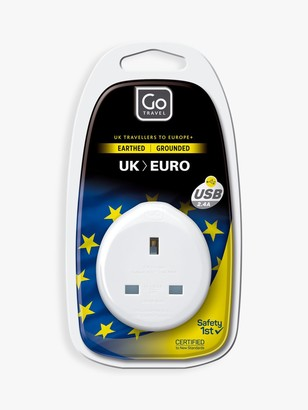 Go Travel USB UK to EU Travel Adaptor