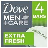 Dove Men+Care Dove®Men+Care Extra Fresh Body and Face Bar 4 oz, 4 Bar