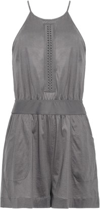 Eres Open-back Braid-trimmed Cotton-jersey Playsuit