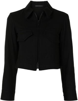 Yohji Yamamoto Cropped Fitted Jacket