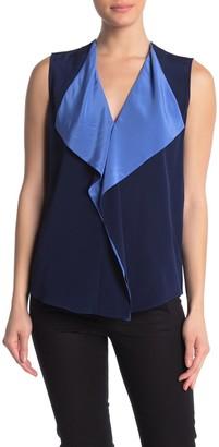 Diane von Furstenberg Isabel Drape Front Silk Tank
