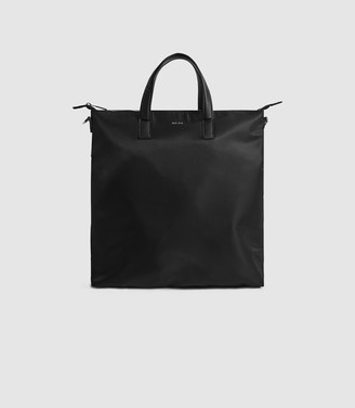 Reiss CARLTON NYLON TOTE BAG Black