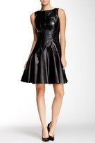 Taylor Faux Leather Skater Dress 5756M